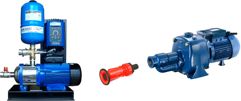wash down mains booster pumps